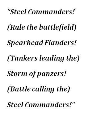 "Lyrics to Sabaton's ""Steel Commanders"""