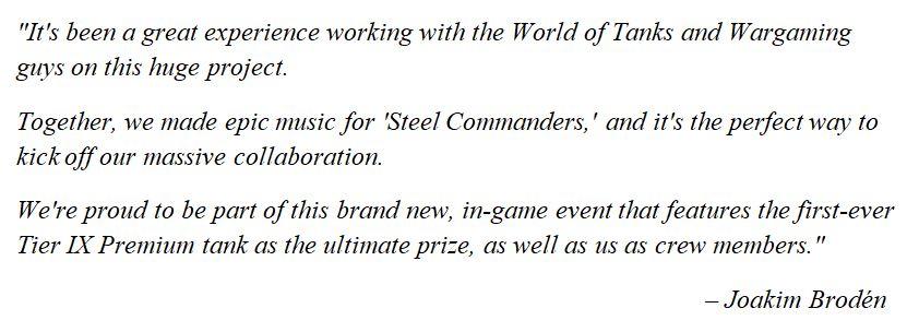 "Sabaton's Joakim Brodén talks about ""Steel Commanders"""