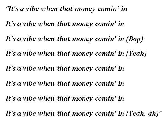 "Lyrics to ""Vibes"" by Trippie Redd"