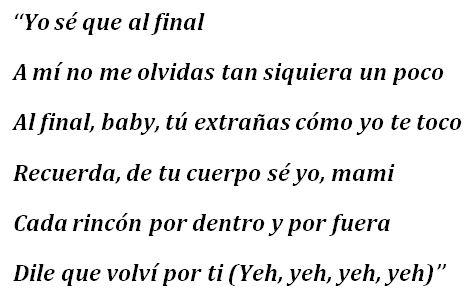 "Lyrics to Aventura & Bad Bunny's ""Volvi"""