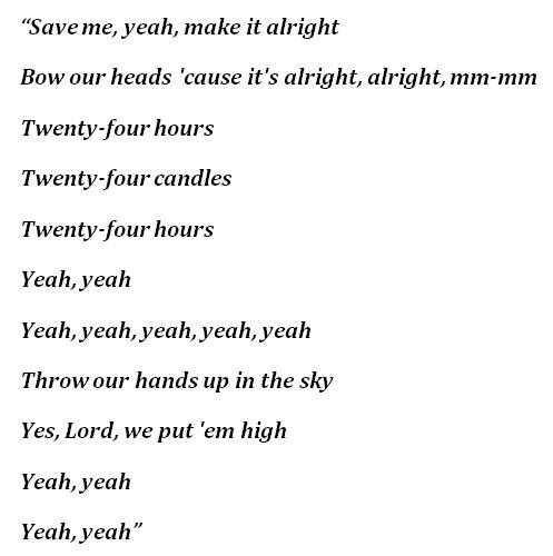"""Kanye West's """"24"""" Lyrics"""