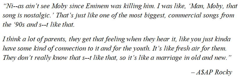 """What A$AP Rocky said of """"A$AP Forever"""""""
