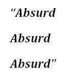 "Lyrics of ""Absurd"" by Guns N' Roses"