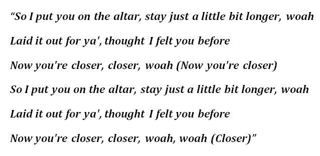 "Lyrics to ""Altar"" by Kehlani"