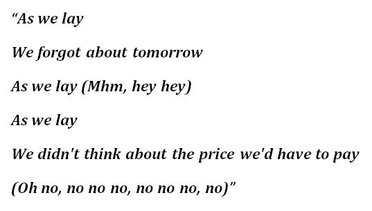 "Lyrics to Shirley Murdock's ""As We Lay"""