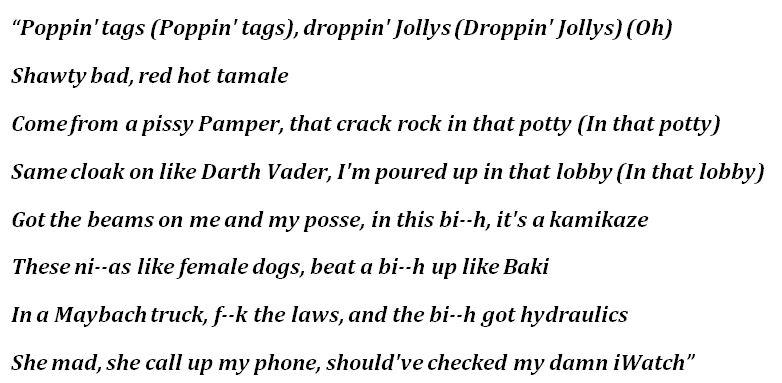 "Lyrics to Trippie Redd's ""Baki"""