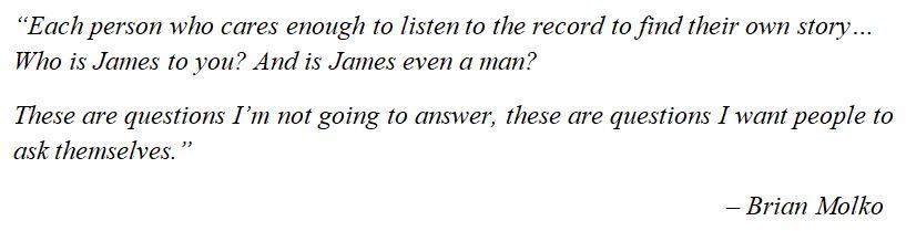 "Placebo's Brain Molko talks about ""Beautiful James"""