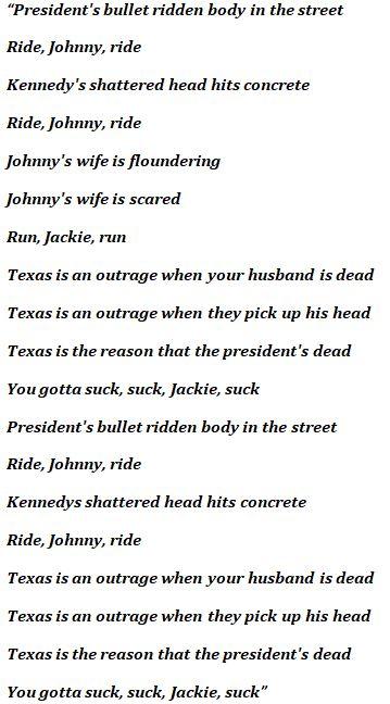 "Lyrics to The Misfits' ""Bullet"""