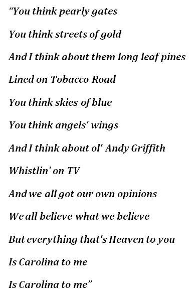 "Scotty McCreery, ""Carolina to Me"" Lyrics"