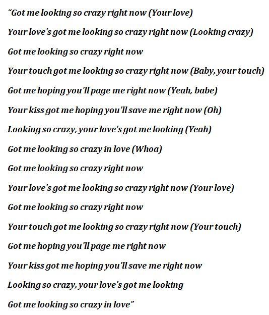 "Beyoncé, ""Crazy in Love"" Lyrics"