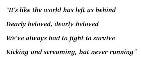 "Daughtry's ""Dearly Beloved"" Lyrics"