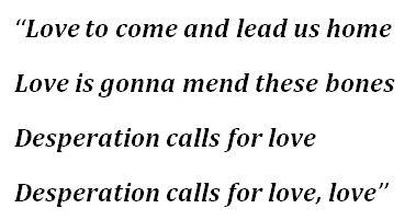 "Lyrics of ""Desperation"" by Daughtry"