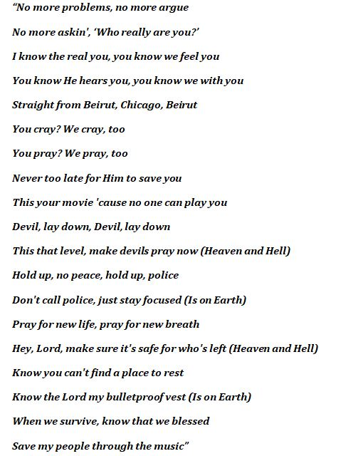 """Lyrics to Kanye West's """"Heaven and Hell"""""""