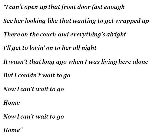 """Lyrics of Scotty McCreery's """"Home"""""""