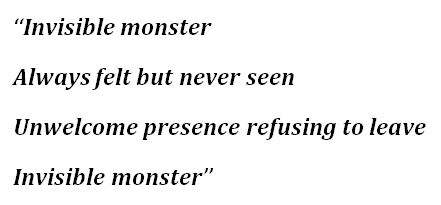 """Lyrics of """"Invisible Monster"""" by Dream Theater"""