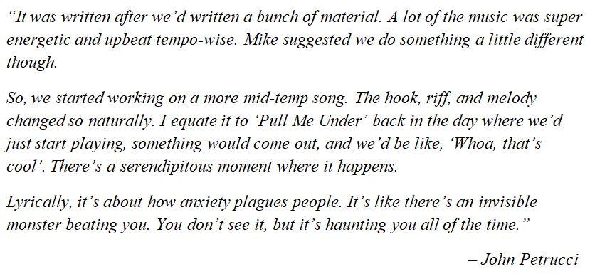 "Dream Theater's John Petrucci explains ""Invisible Monster"""