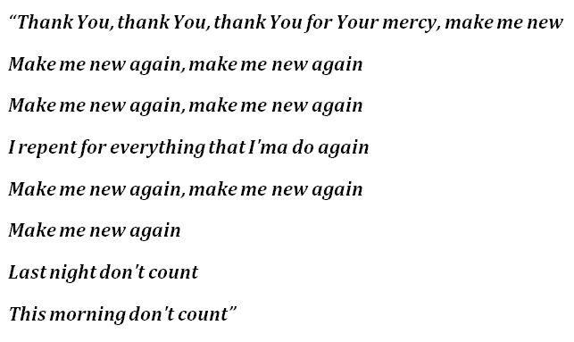 """Lyrics to Kanye West's """"New Again"""""""