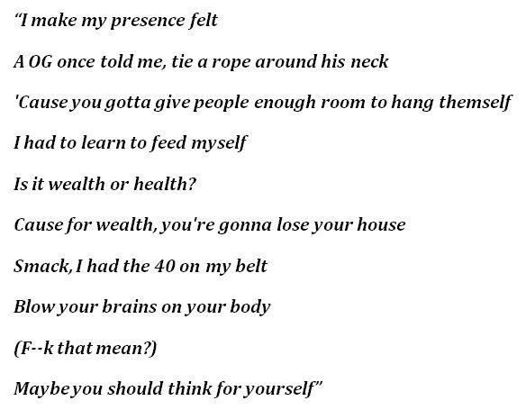 "lyrics of ""Outside"" by Injury Reserve"