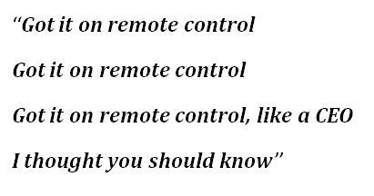 "Lyrics of ""Remote Control"" by Kanye West"