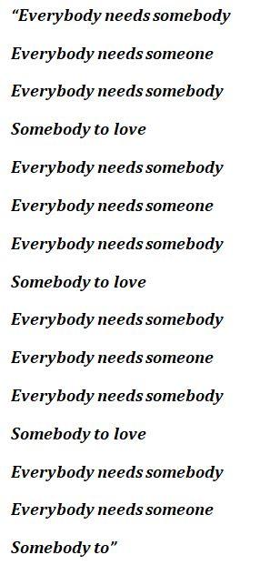 "Lyrics of ""Somebody"" by Daughtry"
