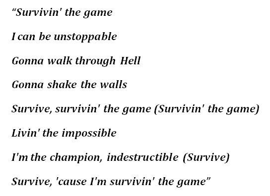 """Skillet, """"Surviving the Game"""" Lyrics"""