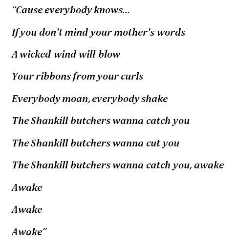 """The Shankill Butchers"" Lyrics"