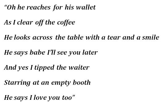"Lyrics to Scotty McCreery's ""The Waiter"""