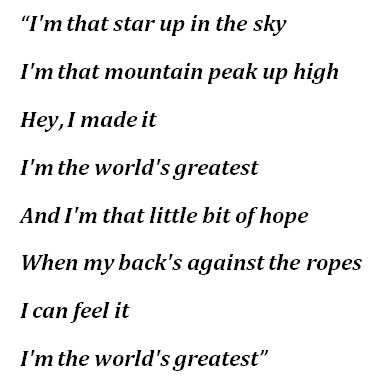 "R. Kelly's ""The World's Greatest"" Lyrics"