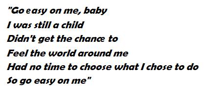 "Lyrics of Adele's ""Easy on Me"""